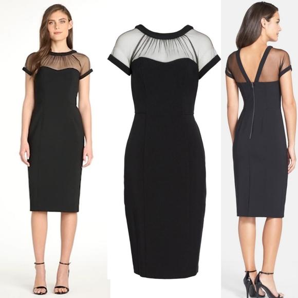 Maggy London Dresses & Skirts - NWT Maggy London Illusion Neckline Sheath Dress